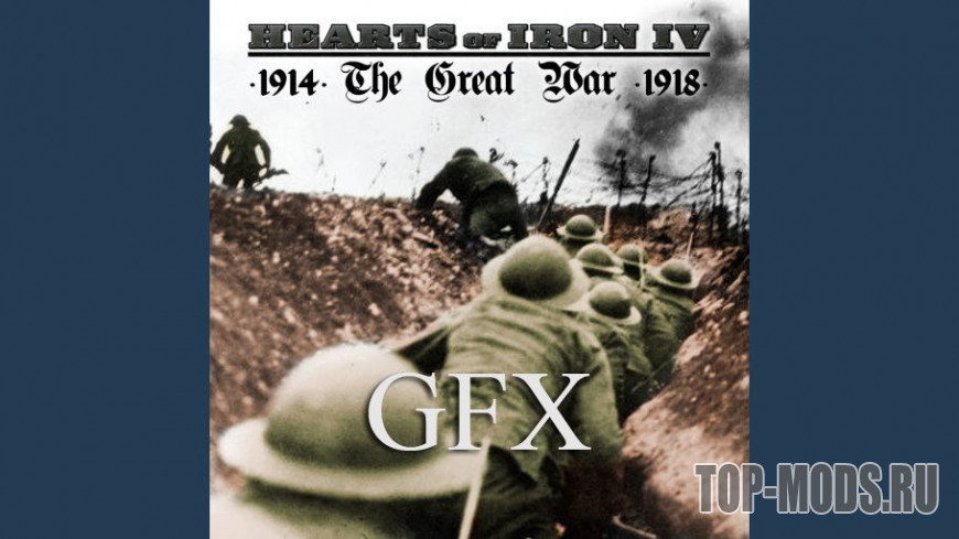 Скачать мод «The Great War GFX» для Hearts of Iron 4 (1 6 0