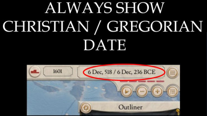 Always show Christian / Gregorian Date