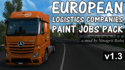 European Logistics Companies Paint Jobs Pack