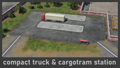 Small & Compact Truck and Cargotram Station
