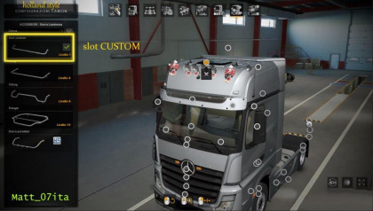 Mercedes Actros MP4 Roof Slot