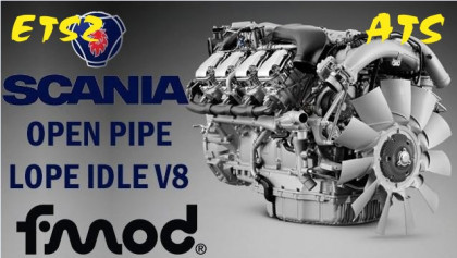 Scania V8 Open Pipe Sound