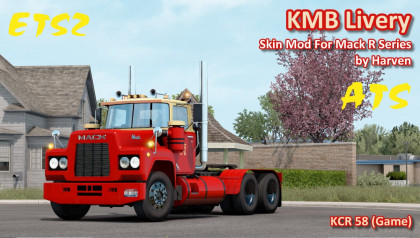 KMB Livery For Mack R Series by Harven