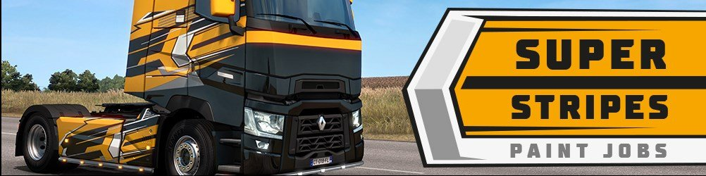 "Обзор нового DLC ""Super Stripes Paint Jobs Pack"" для Euro Truck Simulator 2"