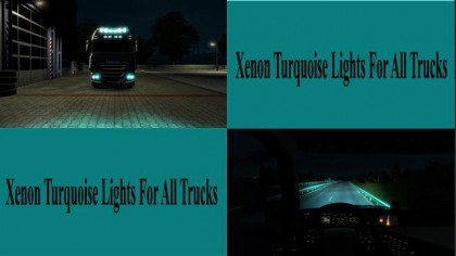 Xenon Turquoise Lights For All Trucks