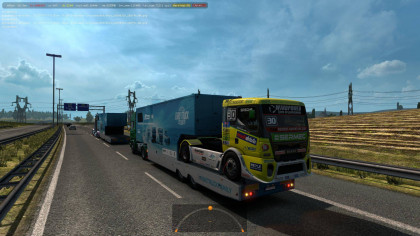 SCS ETRC trailers in traffic