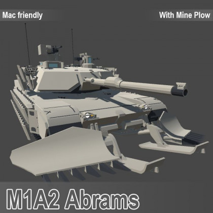M1A2 Abrams With Mine Plow