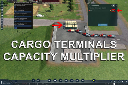Cargo terminals capacity multiplier