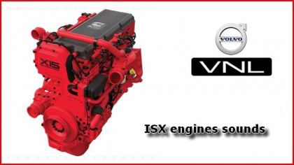 ISX Engines sounds mod for SCS Volvo VNL