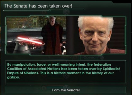 I am the Senate!