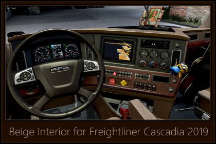 Beige Interior for Freightliner Cascadia 2019